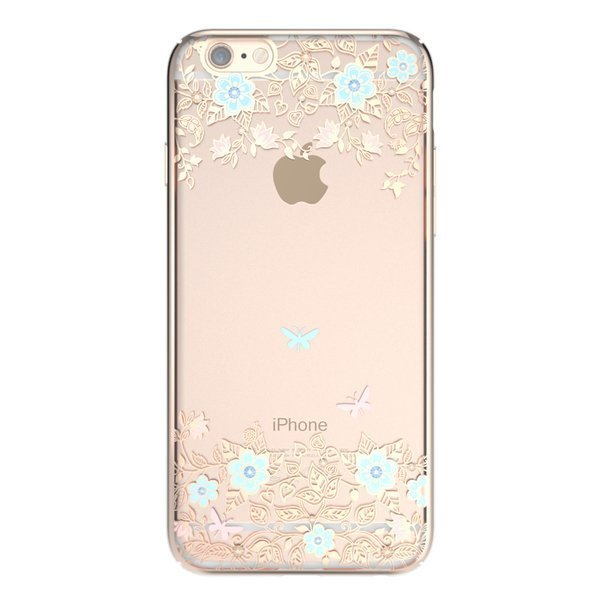 Чехол-накладка для Apple iPhone 6/6S - Kingxbar Dreamland Gold Myosotis