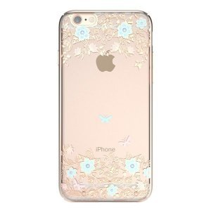 Чохол-накладка для Apple iPhone 6 / 6S - Kingxbar Dreamland Gold Myosotis