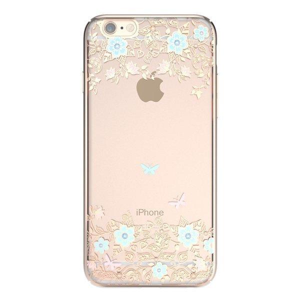 Чехол-накладка для Apple iPhone 6/6S - Kingxbar Dreamland Gold Myosotis