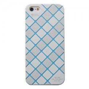 Чехол-накладка для Apple iPhone 5/5S - Cococ Diamond белый + голубой