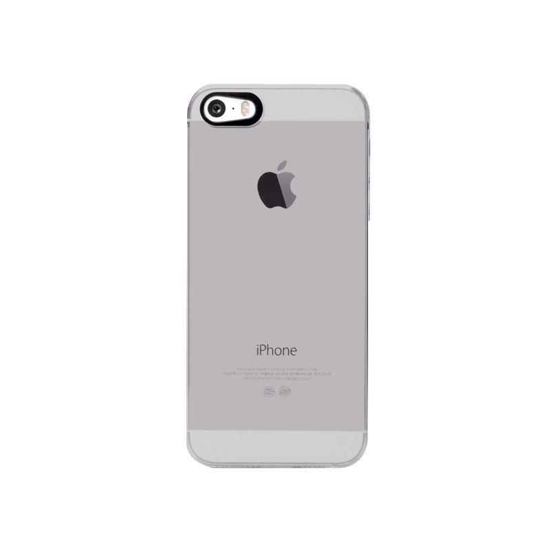 Полупрозрачный чехол iBacks Transparent серый для iPhone 5/5S/SE