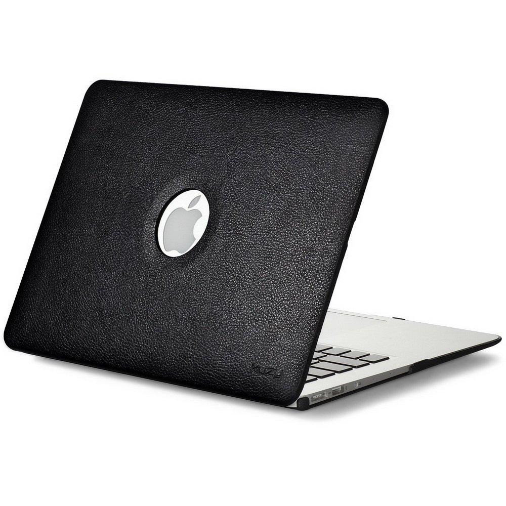 "Чехол-накладка для Apple MacBook Air 13"" - Kuzy Leather Hard Case черный"