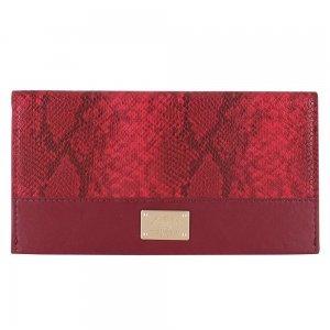 Кожаный чехол-кошелек Polo Piton красный для iPhone 5/5S/SE/6/6S/7/7 Plus/8/8 Plus/X/XS/XR