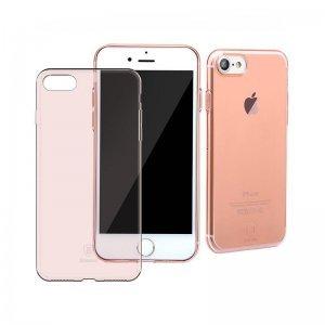 Полупрозрачный чехол Baseus Simple розовый для iPhone 8/7