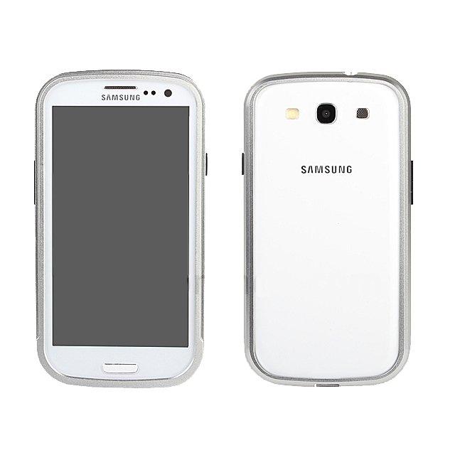 Чехол-бампер для Samsung Galaxy S3 - Shun Tian Tai серебристый