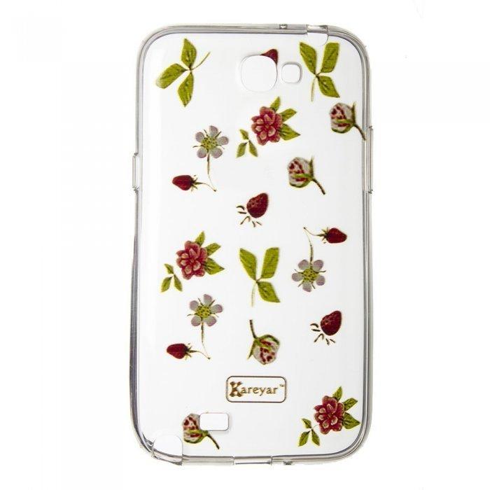 Чехол-накладка дляSamsung Note 2 - Flowers
