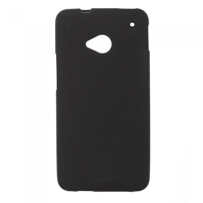 Чехол-накладка для HTCOne - Silicon Case черный