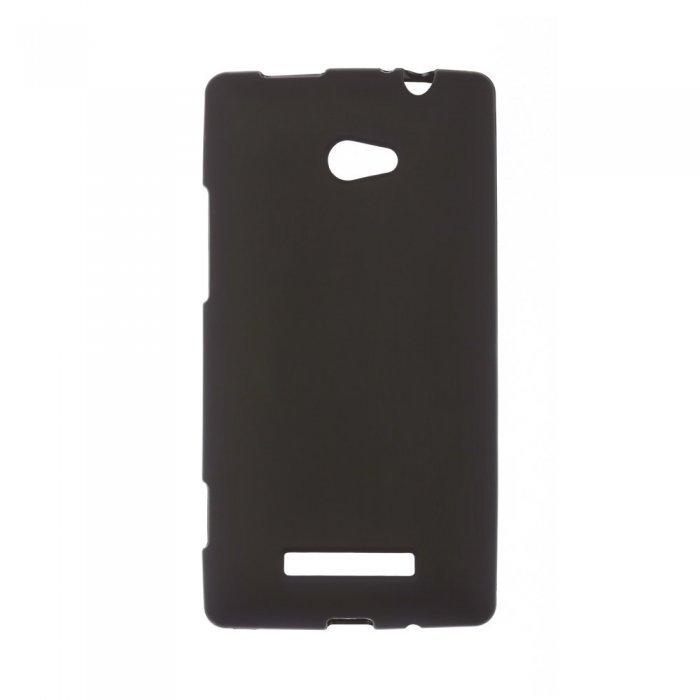 Чехол-накладка для HTCWindowsPhone8x - Silicon Case черный