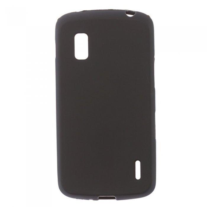 Чехол-накладка для LGNexus4 E960 - Silicon Case черный