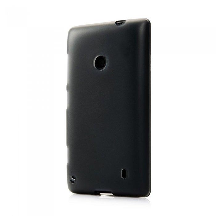 Чехол-накладка дляNokiaLumia520 - Silicon Case черный