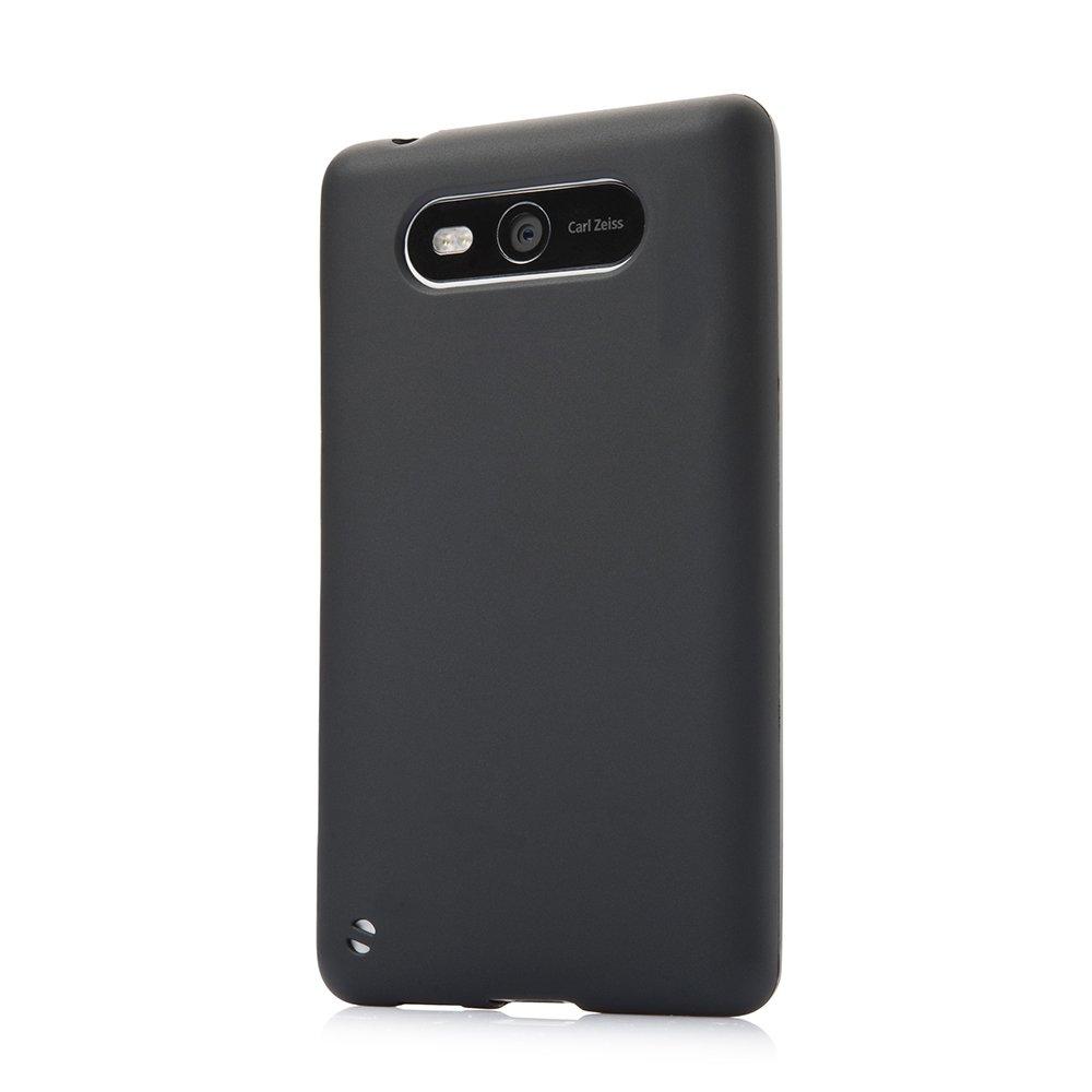 Чехол-накладка дляNokiaLumia820 - Silicon Case черный