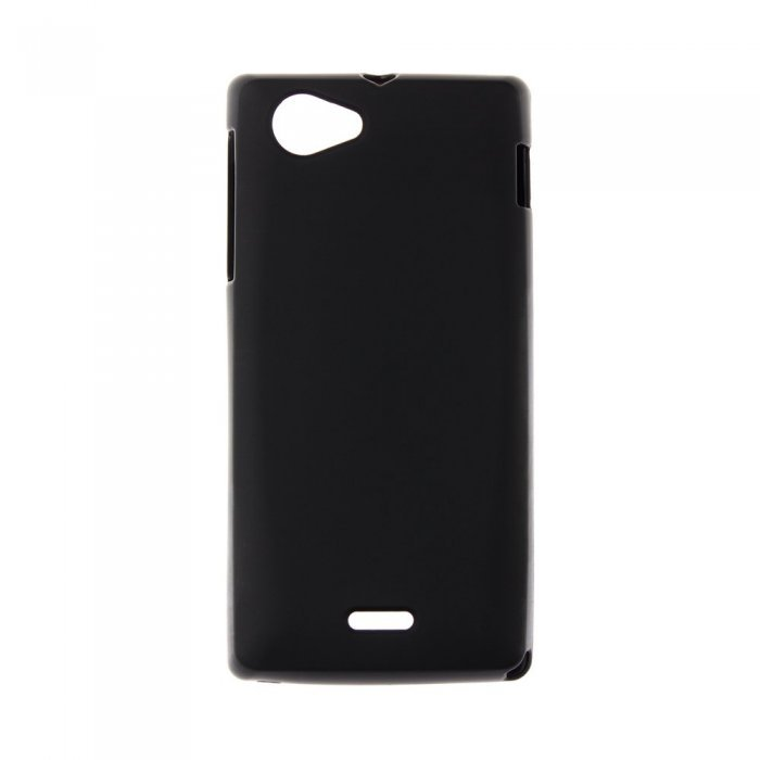 Чехол-накладка для Sony Xperia JST26i - Silicon Case черный