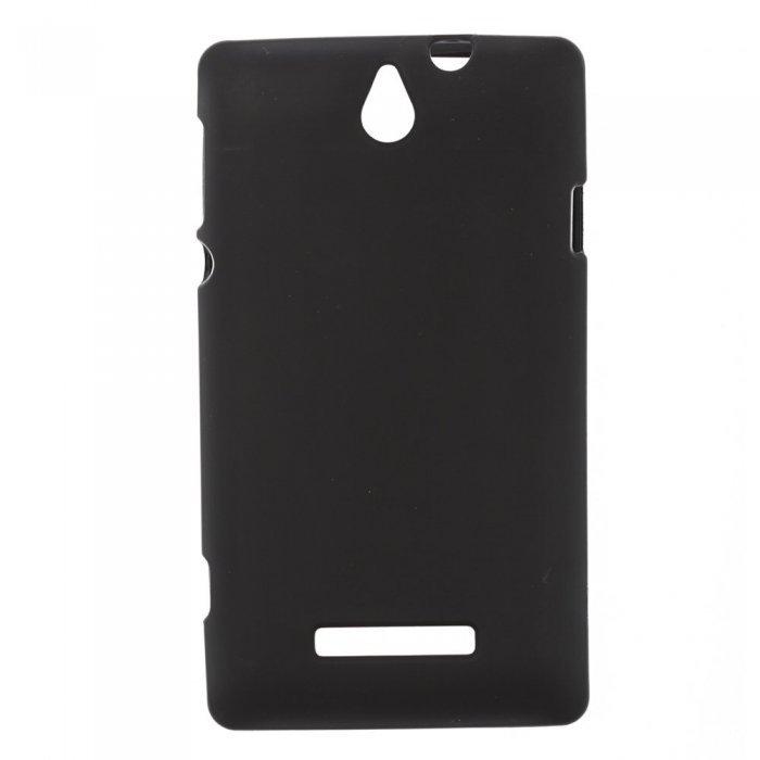 Чехол-накладка для SonyXperiaE C1504/C1505 - Silicon Case черный