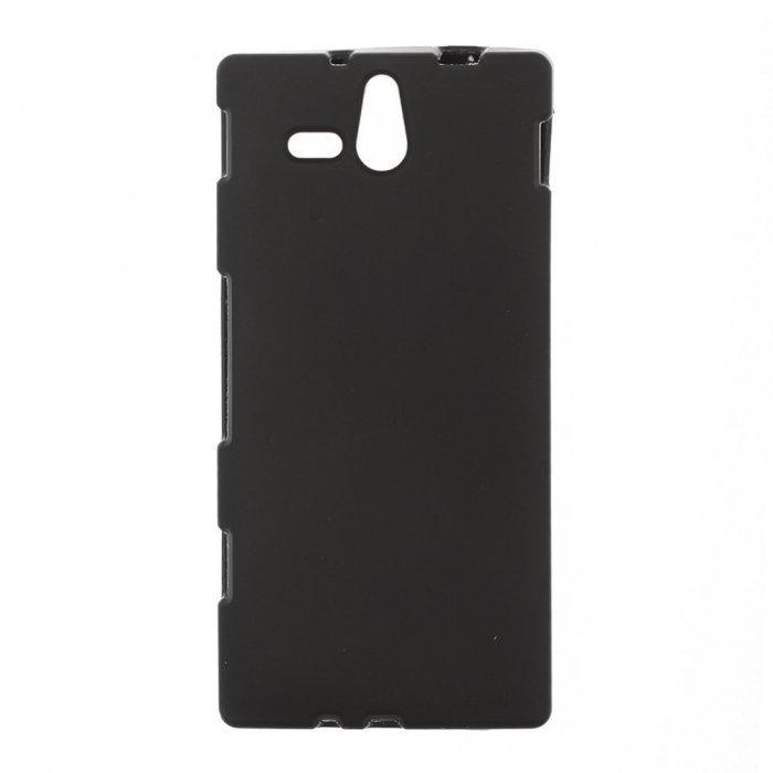 Чехол-накладка для SonyXperiaU ST25i - Silicon Case черный