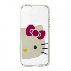 Чехол-накладка для Apple iPhone5/5S - Hello Kitty прозрачный