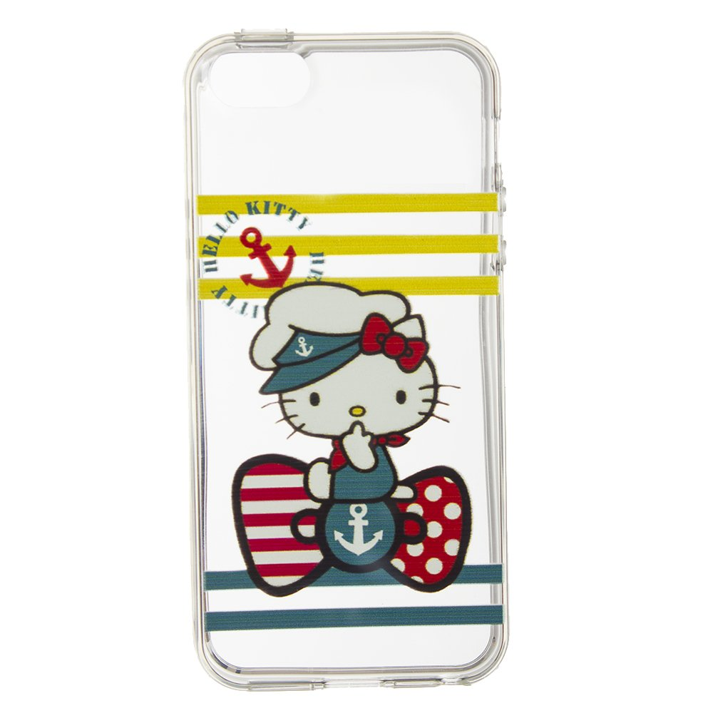 Чехол-накладка Hello Kitty Sailor прозрачный для iPhone5/5S/SE