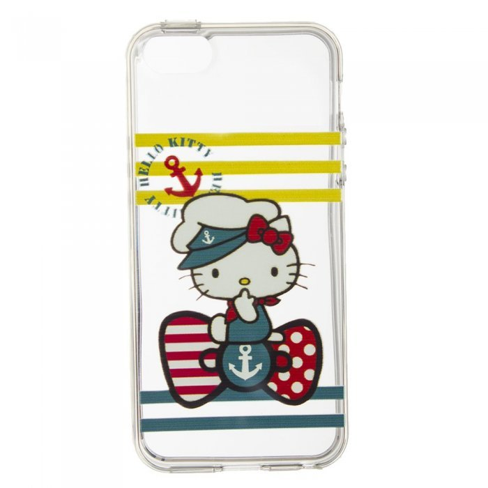 Чохол-накладка Hello Kitty Sailor прозорий для iPhone 5 / 5S / SE