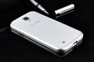 Чехол-бампер для Samsung Galaxy S4 - Rabito серебристый