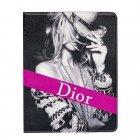 Чехол-книжка для Apple iPad 2/3/4 - Dior розовый + черный