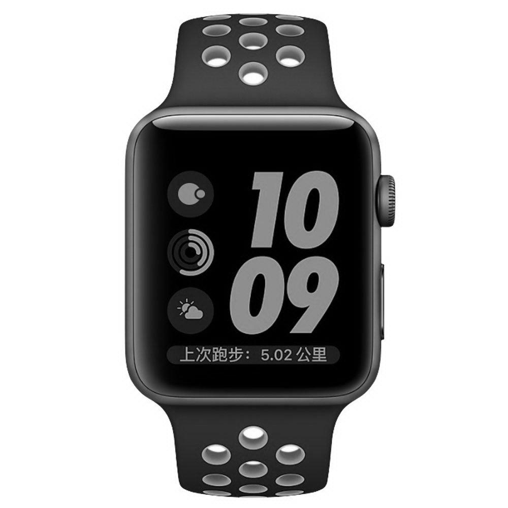 Ремешок Coteetci W12 Nike черный + серый для Apple Watch 42/44 мм