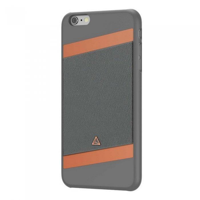 Чехол с отделом для карточек Adonit Wallet серый для iPhone 6 Plus/6S Plus