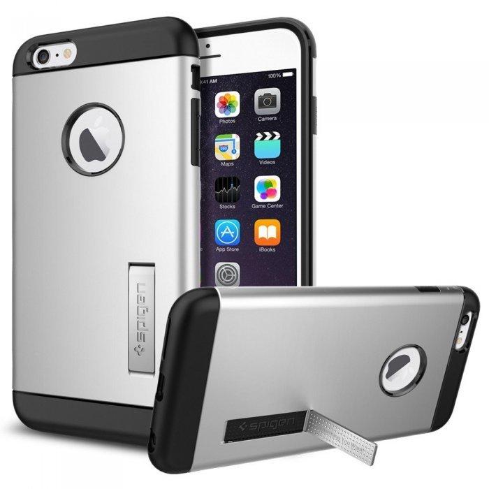 Чехол-накладка для iPhone 6 Plus/6S Plus - Spigen Case Slim Armor серебристый