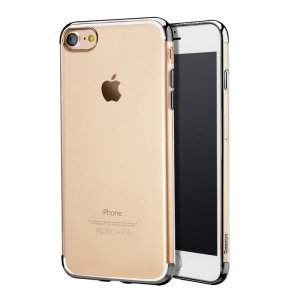Силиконовый (TPU) чехол Baseus Shining чёрный для iPhone 8/7/SE 2020