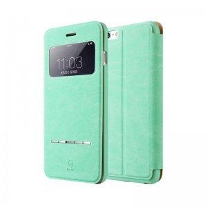 Чехол (книжка) Baseus Terse зеленый для iPhone 6 Plus/6S Plus