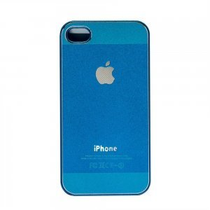 Чехол-накладка для Apple iPhone 4/4S - Metal голубой