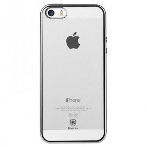 Силиконовый чехол Baseus Shining серебристый для iPhone 5/5S/SE