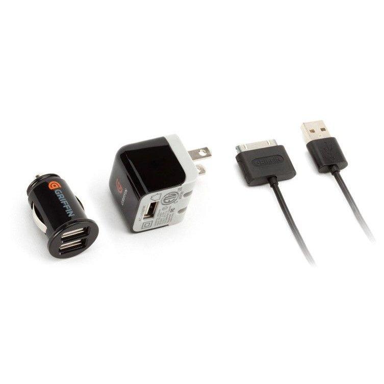 Универсальное автомобильное зарядное устройство Griffin 30-pin Lightning 3 in 1