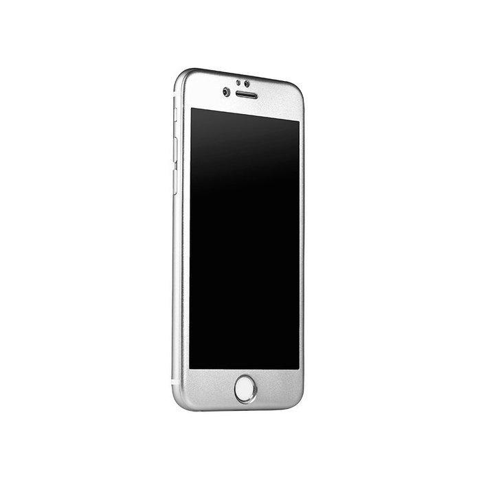 Защитное стекло для Apple iPhone 6 Plus/6S Plus - iBacks Full прозрачный + серый