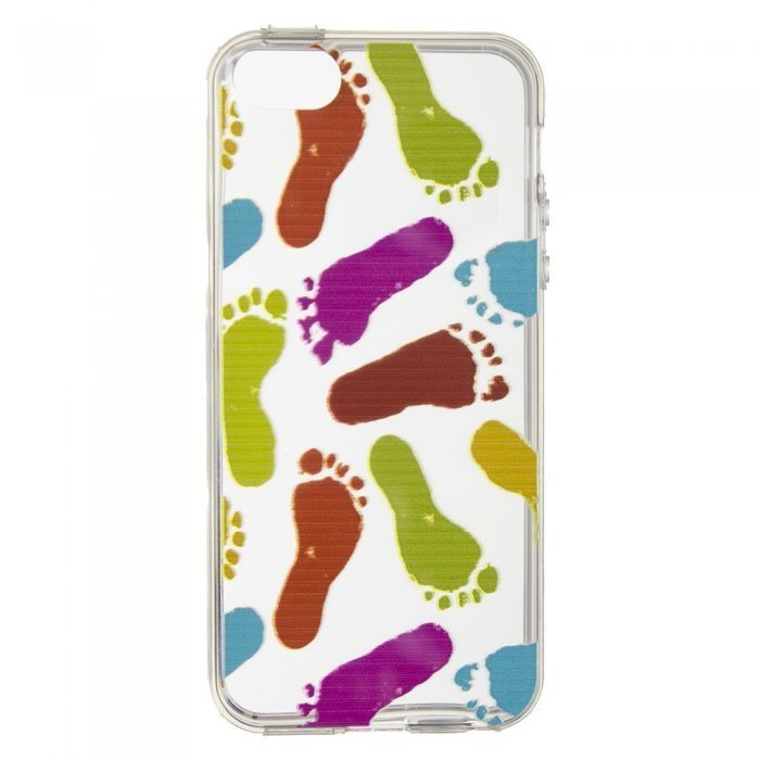 Чохол-накладка для Apple iPhone 5 / 5S - Feet прозорий