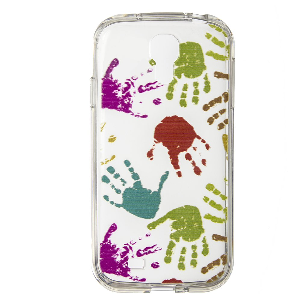 Чехол-накладка для SamsungGalaxyS4 - Silicon Case Multicolor Hands