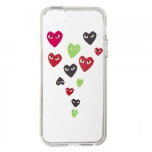 Чехол-накладка для Apple iPhone5/5S - Heart прозрачный