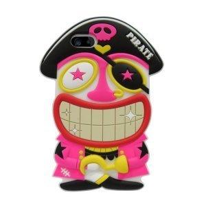 Чехол-накладка для Apple iPhone 5/5S - Candies Pirate черный + розовый
