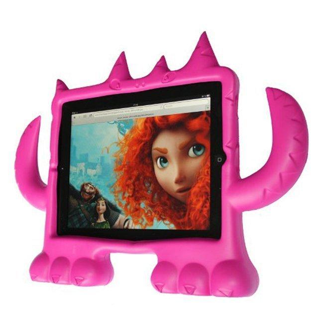 Чехол-подставка для Apple iPad 2/iPad 3/iPad 4 - Demon Style розовый