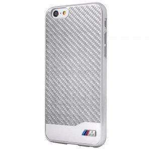 Чехол-накладка для Apple iPhone 6/6S - BMW M Carbon серебристый