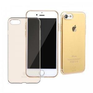 Полупрозрачный чехол Baseus Simple золотой для iPhone 8/7