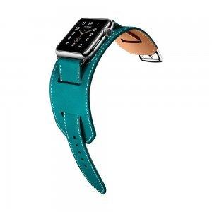 Ремешок для Apple Watch 38мм - Coteetci W10 Hermes голубой