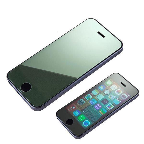 Защитное стекло для Apple iPhone 5/5S - глянцевое, серебристое