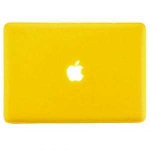 "Чехол-накладка для Apple MacBook Pro 15"" - Kuzy Rubberized Hard Case желтый"