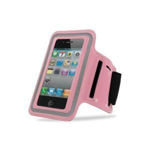 Чехол спорт и экстрим для Apple iPhone 4/4S - Sports Armband Waterproof neoprene розовый