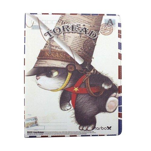 Чехол-книжка для Apple iPad 2/3/4 - Toread Old Military Cat разноцветный