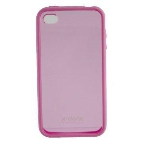 Чехол-накладка для Apple iPhone 4/4S - X-Doria Fit розовый + прозрачный