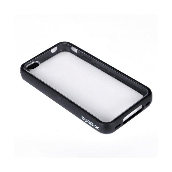Чохол-накладка для Apple iPhone 4 - X-Doria Fit Magic clothes Bumper чорний