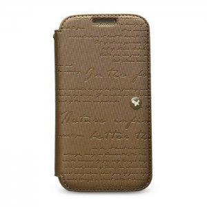 Чохол-книжка для Samsung Galaxy S4 - Zenus Lettering коричневий
