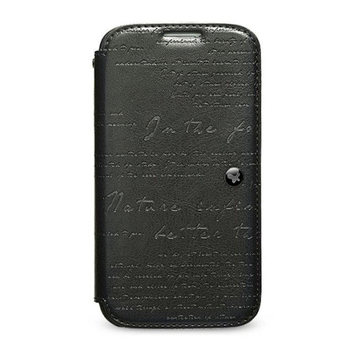 Чехол-книжка для Samsung Galaxy S4 - Zenus Lettering черный