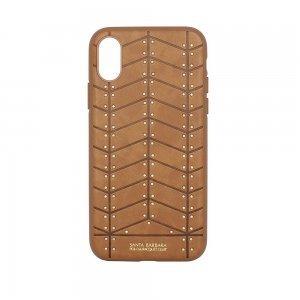 Кожаный чехол Polo Armor коричневый для iPhone X/XS