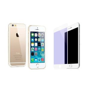 Комплект защитное стекло + чехол-накладка для Apple iPhone 6/6S Plus - WK